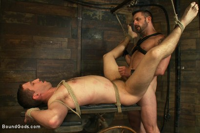 Photo number 13 from Morgan Black is back shot for Bound Gods on Kink.com. Featuring Morgan Black and Tony Hunter in hardcore BDSM & Fetish porn.