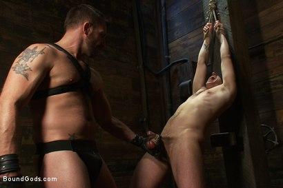 Photo number 5 from Morgan Black is back shot for Bound Gods on Kink.com. Featuring Morgan Black and Tony Hunter in hardcore BDSM & Fetish porn.