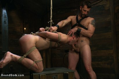Photo number 7 from Morgan Black is back shot for Bound Gods on Kink.com. Featuring Morgan Black and Tony Hunter in hardcore BDSM & Fetish porn.