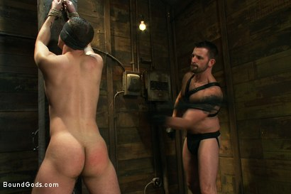 Photo number 6 from Morgan Black is back shot for Bound Gods on Kink.com. Featuring Morgan Black and Tony Hunter in hardcore BDSM & Fetish porn.