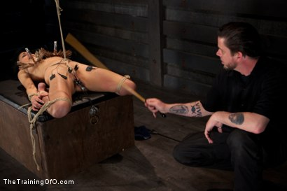 Photo number 10 from Day 5 for Beretta. Will she be the perfect slave? shot for The Training Of O on Kink.com. Featuring The Pope and Beretta James in hardcore BDSM & Fetish porn.