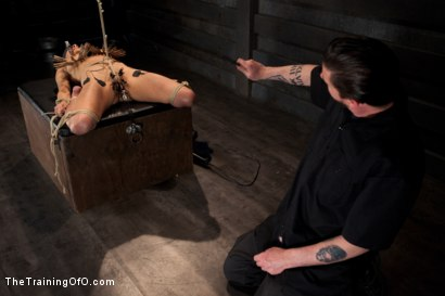 Photo number 14 from Day 5 for Beretta. Will she be the perfect slave? shot for The Training Of O on Kink.com. Featuring The Pope and Beretta James in hardcore BDSM & Fetish porn.