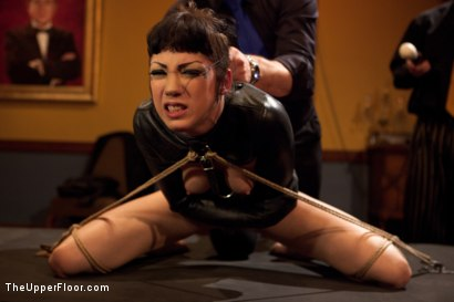 Photo number 12 from Asphyxia's Initiation shot for The Upper Floor on Kink.com. Featuring Krysta Kaos, Dylan Ryan, Asphyxia Noir and James Deen in hardcore BDSM & Fetish porn.