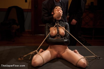 Photo number 5 from Asphyxia's Initiation shot for The Upper Floor on Kink.com. Featuring Krysta Kaos, Dylan Ryan, Asphyxia Noir and James Deen in hardcore BDSM & Fetish porn.