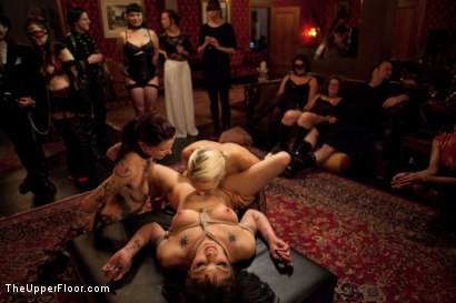 Photo number 13 from Asphyxia's Initiation shot for The Upper Floor on Kink.com. Featuring Krysta Kaos, Dylan Ryan, Asphyxia Noir and James Deen in hardcore BDSM & Fetish porn.