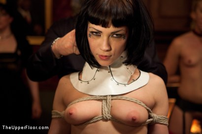 Photo number 14 from Asphyxia's Initiation shot for The Upper Floor on Kink.com. Featuring Krysta Kaos, Dylan Ryan, Asphyxia Noir and James Deen in hardcore BDSM & Fetish porn.