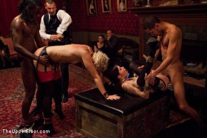 Photo number 33 from House Party: Stretching pussy shot for The Upper Floor on Kink.com. Featuring Mickey Mod, Dylan Ryan, Bobby Bends, Krysta Kaos and Odile in hardcore BDSM & Fetish porn.