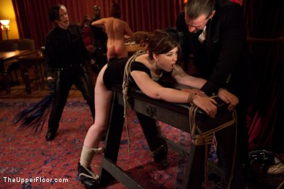 Photo number 12 from Community Dinner<br>Reminding the tramp shot for The Upper Floor on Kink.com. Featuring Dylan Ryan, Odile, The Pope and Maestro Stefanos in hardcore BDSM & Fetish porn.