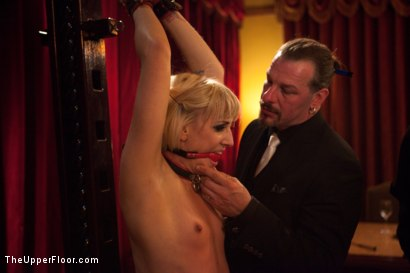 Photo number 14 from Community Dinner<br>Reminding the tramp shot for The Upper Floor on Kink.com. Featuring Dylan Ryan, Odile, The Pope and Maestro Stefanos in hardcore BDSM & Fetish porn.