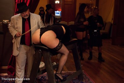 Photo number 3 from Community Dinner<br>Reminding the tramp shot for The Upper Floor on Kink.com. Featuring Dylan Ryan, Odile, The Pope and Maestro Stefanos in hardcore BDSM & Fetish porn.