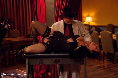 Photo number 8 from Community Dinner<br>Reminding the tramp shot for The Upper Floor on Kink.com. Featuring Dylan Ryan, Odile, The Pope and Maestro Stefanos in hardcore BDSM & Fetish porn.