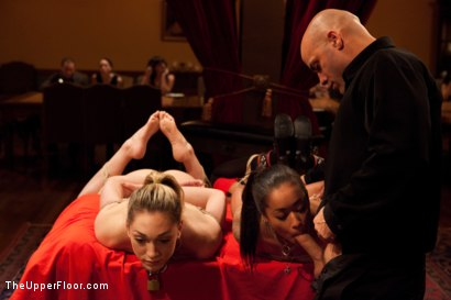 Photo number 12 from Slave Competition Party  shot for The Upper Floor on Kink.com. Featuring Dylan Ryan, Derrick Pierce, Krysta Kaos, Lily LaBeau and Skin Diamond in hardcore BDSM & Fetish porn.