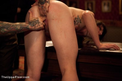 Photo number 15 from Slave Competition Party  shot for The Upper Floor on Kink.com. Featuring Dylan Ryan, Derrick Pierce, Krysta Kaos, Lily LaBeau and Skin Diamond in hardcore BDSM & Fetish porn.