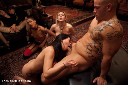 Photo number 31 from Slave Competition Party  shot for The Upper Floor on Kink.com. Featuring Dylan Ryan, Derrick Pierce, Krysta Kaos, Lily LaBeau and Skin Diamond in hardcore BDSM & Fetish porn.