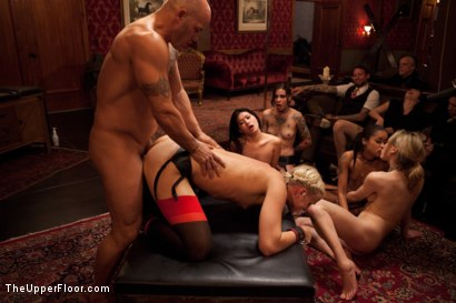 Photo number 35 from Slave Competition Party  shot for The Upper Floor on Kink.com. Featuring Dylan Ryan, Derrick Pierce, Krysta Kaos, Lily LaBeau and Skin Diamond in hardcore BDSM & Fetish porn.