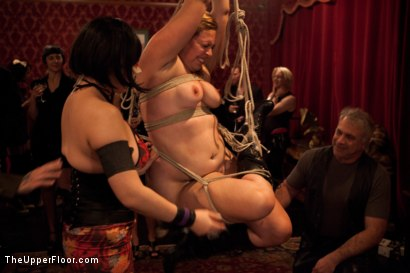 Photo number 21 from Slave Competition Party  shot for The Upper Floor on Kink.com. Featuring Dylan Ryan, Derrick Pierce, Krysta Kaos, Lily LaBeau and Skin Diamond in hardcore BDSM & Fetish porn.