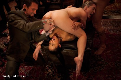 Photo number 22 from Slave Competition Party  shot for The Upper Floor on Kink.com. Featuring Dylan Ryan, Derrick Pierce, Krysta Kaos, Lily LaBeau and Skin Diamond in hardcore BDSM & Fetish porn.