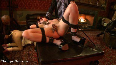 Photo number 5 from Stefanos Brunch<br> Two Year Anniversary  shot for The Upper Floor on Kink.com. Featuring Krysta Kaos and Dylan Ryan in hardcore BDSM & Fetish porn.