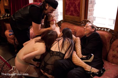 Photo number 2 from Stefanos Brunch shot for The Upper Floor on Kink.com. Featuring Krysta Kaos and Maestro Stefanos in hardcore BDSM & Fetish porn.