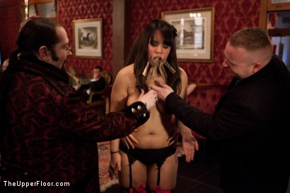 Photo number 14 from Stefanos Brunch shot for The Upper Floor on Kink.com. Featuring Krysta Kaos and Maestro Stefanos in hardcore BDSM & Fetish porn.