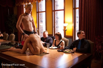 Photo number 1 from Stefanos' Brunch shot for The Upper Floor on Kink.com. Featuring Dylan Ryan and Beretta James in hardcore BDSM & Fetish porn.