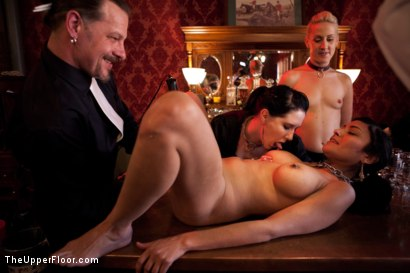 Photo number 10 from Stefanos' Brunch shot for The Upper Floor on Kink.com. Featuring Dylan Ryan and Beretta James in hardcore BDSM & Fetish porn.