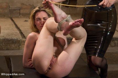 Photo number 3 from Maitresse Madeline and Bobbi Starr unite to destroy two hot blondes LIVE on Whipped Ass! shot for Whipped Ass on Kink.com. Featuring Lily LaBeau, Mallory Mallone, Maitresse Madeline Marlowe  and Bobbi Starr in hardcore BDSM & Fetish porn.