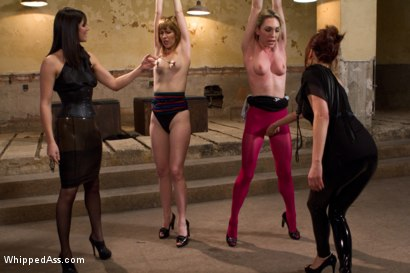 Photo number 10 from Maitresse Madeline and Bobbi Starr unite to destroy two hot blondes LIVE on Whipped Ass! shot for Whipped Ass on Kink.com. Featuring Lily LaBeau, Mallory Mallone, Maitresse Madeline Marlowe  and Bobbi Starr in hardcore BDSM & Fetish porn.