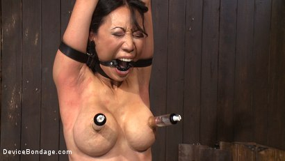 Photo number 11 from Lactating Titties of the Prancing Petite Tia shot for Device Bondage on Kink.com. Featuring Tia Ling and Isis Love in hardcore BDSM & Fetish porn.