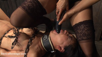 Photo number 4 from 8 Fingers in the Ass = Anal Whore shot for Device Bondage on Kink.com. Featuring Tia Ling and Isis Love in hardcore BDSM & Fetish porn.