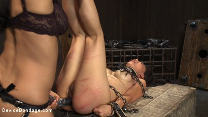 Photo number 5 from 8 Fingers in the Ass = Anal Whore shot for Device Bondage on Kink.com. Featuring Tia Ling and Isis Love in hardcore BDSM & Fetish porn.