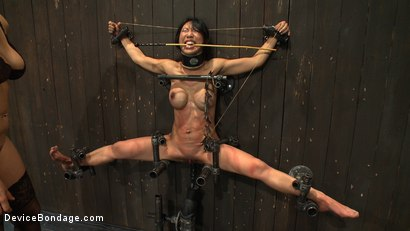 Photo number 8 from Tiny Tia Takes Tenacious Torment  shot for Device Bondage on Kink.com. Featuring Tia Ling and Isis Love in hardcore BDSM & Fetish porn.