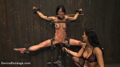 Photo number 7 from Tiny Tia Takes Tenacious Torment  shot for Device Bondage on Kink.com. Featuring Tia Ling and Isis Love in hardcore BDSM & Fetish porn.