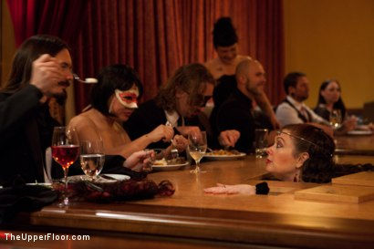 Photo number 26 from Community Dinner   Fisting shot for The Upper Floor on Kink.com. Featuring Krysta Kaos, Maestro Stefanos and The Pope in hardcore BDSM & Fetish porn.