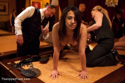 Photo number 27 from Community Dinner   Fisting shot for The Upper Floor on Kink.com. Featuring Krysta Kaos, Maestro Stefanos and The Pope in hardcore BDSM & Fetish porn.