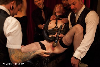 Photo number 4 from Community Dinner   Fisting shot for The Upper Floor on Kink.com. Featuring Krysta Kaos, Maestro Stefanos and The Pope in hardcore BDSM & Fetish porn.