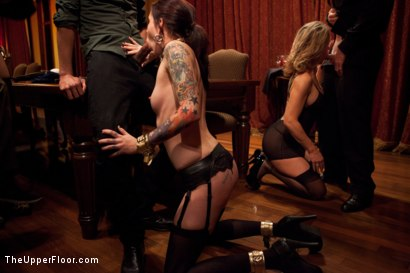 Photo number 13 from Community Dinner<br>Fisting  shot for The Upper Floor on Kink.com. Featuring Krysta Kaos, Maestro Stefanos and The Pope in hardcore BDSM & Fetish porn.