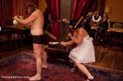Photo number 16 from Community Dinner<br>Fisting  shot for The Upper Floor on Kink.com. Featuring Krysta Kaos, Maestro Stefanos and The Pope in hardcore BDSM & Fetish porn.