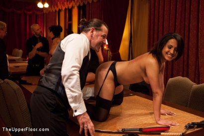 Photo number 17 from Community Dinner<br>Fisting  shot for The Upper Floor on Kink.com. Featuring Krysta Kaos, Maestro Stefanos and The Pope in hardcore BDSM & Fetish porn.