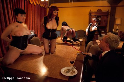 Photo number 18 from Community Dinner<br>Fisting  shot for The Upper Floor on Kink.com. Featuring Krysta Kaos, Maestro Stefanos and The Pope in hardcore BDSM & Fetish porn.