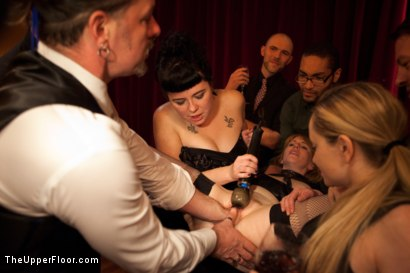 Photo number 3 from Community Dinner<br>Fisting  shot for The Upper Floor on Kink.com. Featuring Krysta Kaos, Maestro Stefanos and The Pope in hardcore BDSM & Fetish porn.