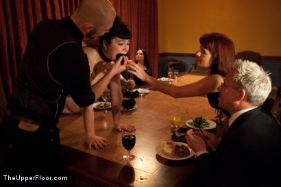 Photo number 24 from Community Dinner<br>Fisting  shot for The Upper Floor on Kink.com. Featuring Krysta Kaos, Maestro Stefanos and The Pope in hardcore BDSM & Fetish porn.