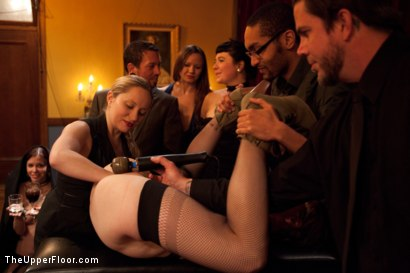 Photo number 5 from Community Dinner<br>Fisting  shot for The Upper Floor on Kink.com. Featuring Krysta Kaos, Maestro Stefanos and The Pope in hardcore BDSM & Fetish porn.