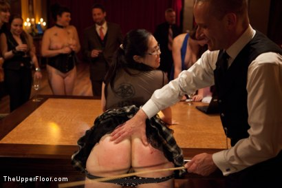 Photo number 8 from Community Dinner<br>Fisting  shot for The Upper Floor on Kink.com. Featuring Krysta Kaos, Maestro Stefanos and The Pope in hardcore BDSM & Fetish porn.