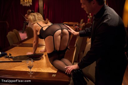Photo number 10 from Community Dinner<br>Fisting  shot for The Upper Floor on Kink.com. Featuring Krysta Kaos, Maestro Stefanos and The Pope in hardcore BDSM & Fetish porn.