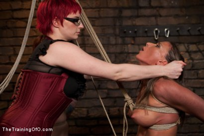 Photo number 11 from Lesbian 5 Slave Training Intake<br>Featured Trainer Claire Adams  shot for The Training Of O on Kink.com. Featuring Ariel X, Claire Adams, Bryn Blayne, Yasmine de Leon, Mackenzie Lux and Mallory Mallone in hardcore BDSM & Fetish porn.