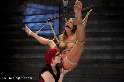 Photo number 13 from Lesbian 5 Slave Training Intake<br>Featured Trainer Claire Adams  shot for The Training Of O on Kink.com. Featuring Ariel X, Claire Adams, Bryn Blayne, Yasmine de Leon, Mackenzie Lux and Mallory Mallone in hardcore BDSM & Fetish porn.