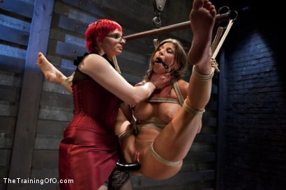 Photo number 1 from Lesbian 5 Slave Training Intake<br>Featured Trainer Claire Adams  shot for The Training Of O on Kink.com. Featuring Ariel X, Claire Adams, Bryn Blayne, Yasmine de Leon, Mackenzie Lux and Mallory Mallone in hardcore BDSM & Fetish porn.