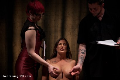 Photo number 6 from Lesbian 5 Slave Training Intake<br>Featured Trainer Claire Adams  shot for The Training Of O on Kink.com. Featuring Ariel X, Claire Adams, Bryn Blayne, Yasmine de Leon, Mackenzie Lux and Mallory Mallone in hardcore BDSM & Fetish porn.