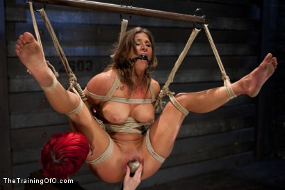 Photo number 15 from Lesbian 5 Slave Training Intake<br>Featured Trainer Claire Adams  shot for The Training Of O on Kink.com. Featuring Ariel X, Claire Adams, Bryn Blayne, Yasmine de Leon, Mackenzie Lux and Mallory Mallone in hardcore BDSM & Fetish porn.